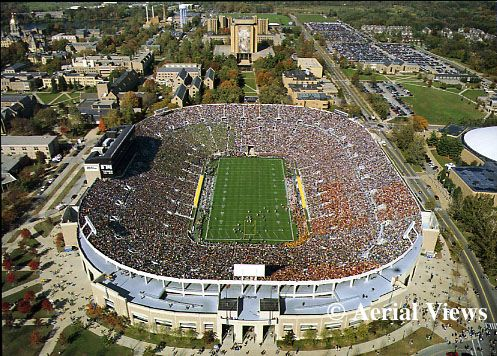 Notre Dame Stadium - football team have a week off....good time for Everett Golson and coach Kelly to sync on the ND QB role. Golson doesn't seem to be comfortable and that's difficult to understand. Kelly needs to coach him through this.