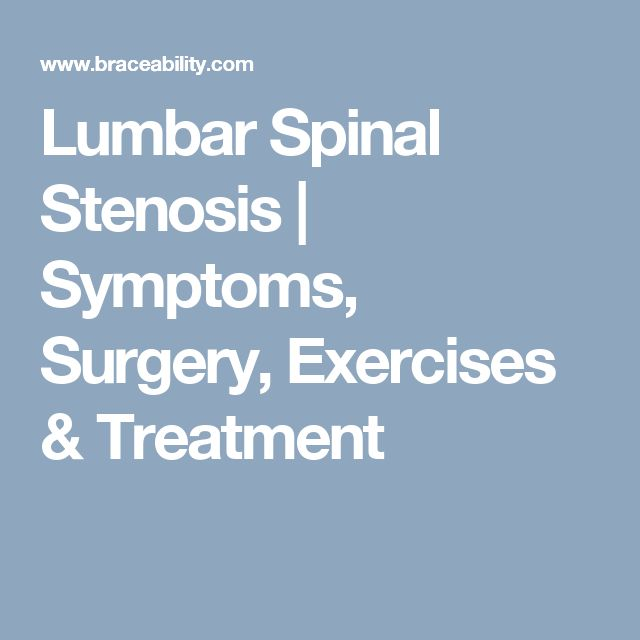 What treatment options are available for cervical stenosis?