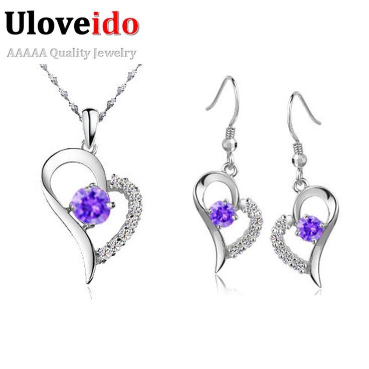 Cheap Jewellery Case Buy Quality Directly From China Supplier Suppliers Uloveido Heart Jewelry Sets Earrings And Necklaces Crystal Bijoux