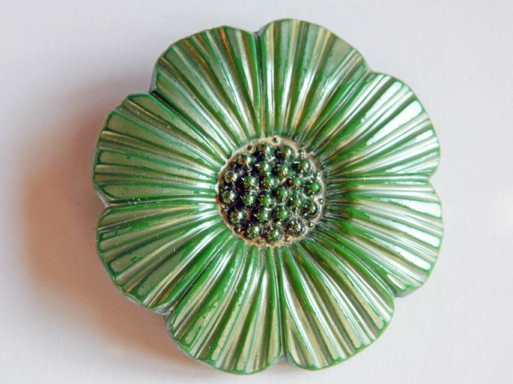 From our own collection: Victorian large glass button