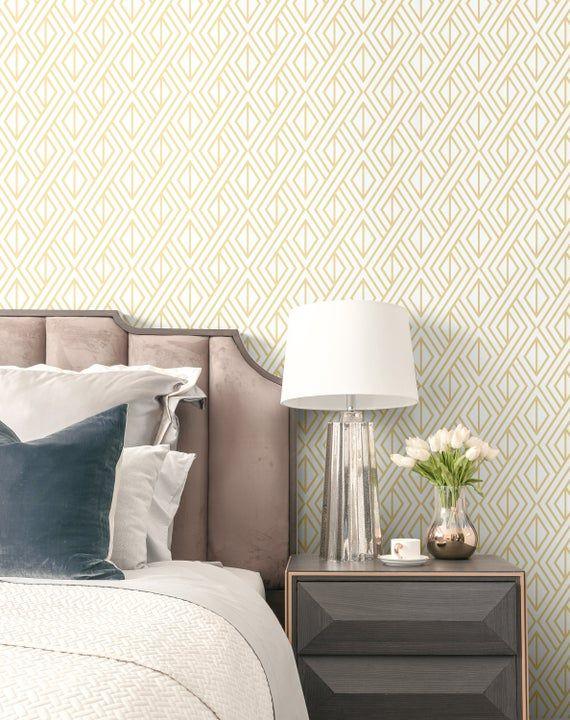 Self Adhesive Wallpaper Metallic Gold Removable Wallpaper Etsy Home Decor Decor Peel And Stick Wallpaper