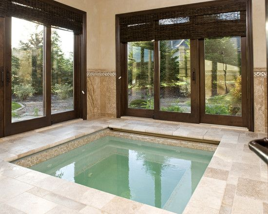 Hot tub room would be a great addition to any backyard or master suite...