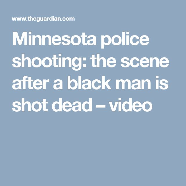 Minnesota police shooting: the scene after a black man is shot dead – video