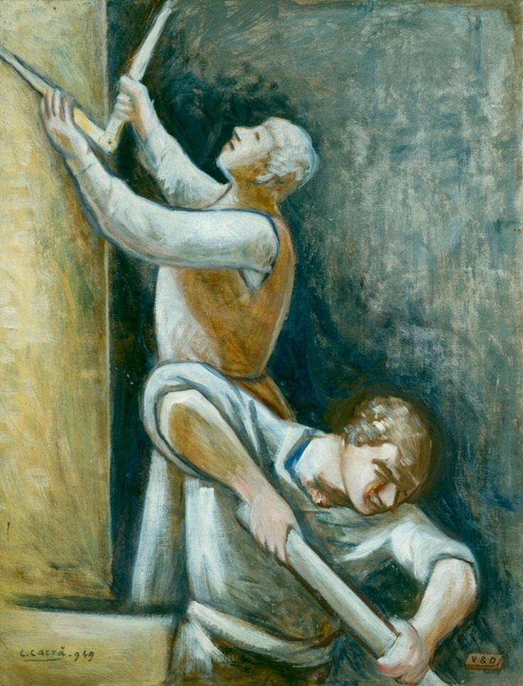 Carrá, Carlo (1881-1966)  Costruttori  Date: Not dated    Technique: Oil on canvas  Museum: Pinacoteca Civica