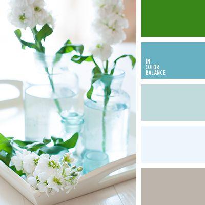 azul oscuro, celeste grisáceo, celeste pálido, color azul aguamarina, marrón, marrón grisáceo, paleta de colores para interiores, paleta de colores para la celebración de una boda, selección de colores para un salón, tonos celestes, verde, verde vivo.