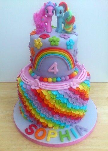 my little pony cake | my little pony 2 tier rainbow theme novelty birthday cake