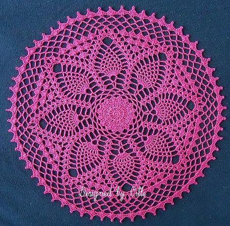 "Pineapple Delight Doily- 13 1/2"": Crochet Pineapple, Lace Doilies, Doily Patterns, Crochet Doily, Pineapple Doilies, Doilies Patterns, Free Patterns, Crochet Doilies, Crochet Patterns"