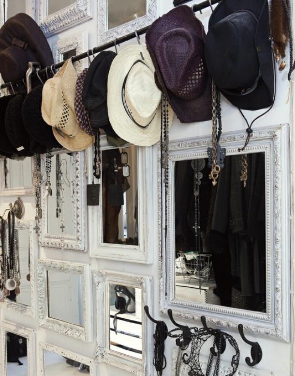 Spiegels als wanddecoratie in de hal Door Vonneke