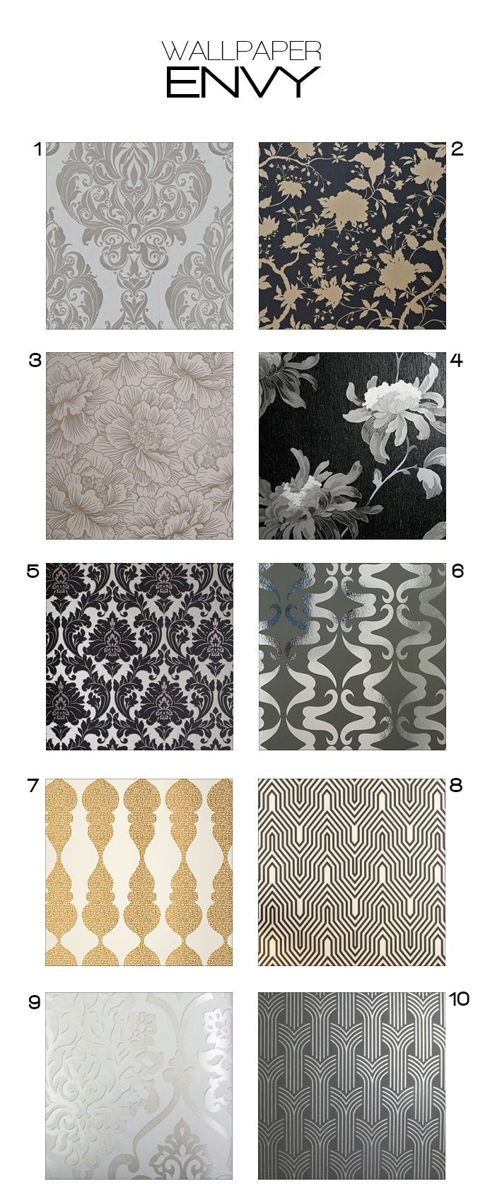 I am going with #5! Glamorous wallpaper for your home