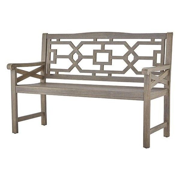 Martha Stewart Living? Blue Hill Outdoor Garden Bench ($399) ❤ liked on Polyvore featuring home, outdoors, patio furniture, outdoor benches, outside patio furniture, outdoor furniture, home decorators collection, outdoor garden furniture and blue patio furniture