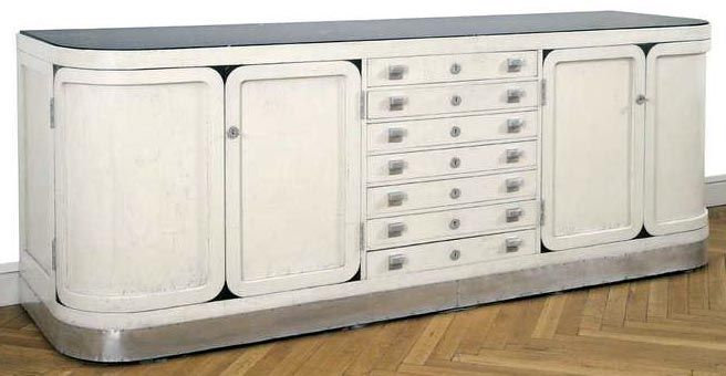 buffet 39 enfilade 39 h tre laqu blanc marbre et m tal. Black Bedroom Furniture Sets. Home Design Ideas