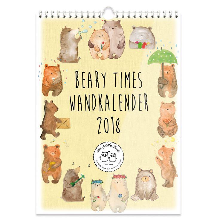 A3 Wandkalender 2018 Beary Times Collection aus 170 Gramm Papier seitenmatt   Weiß - Das Original von Mr. & Mrs. Panda.  Dieser wunderschöne Kalender von Mr. &  Mrs. Panda im Format DIN A3 ist mit unseren liebevollen Motiven versehen. Wir begleiten dich Monat für Monat durch das Jahr 2018 und zaubern dir immer wieder ein Lächeln aufs Gesicht. Der Kalender ist mit einem Papprücken verstärkt und vorderseitig mit einer Klarsichtfolie bedeckt. Dadurch wirkt er sehr edel und hochwertig und ist…