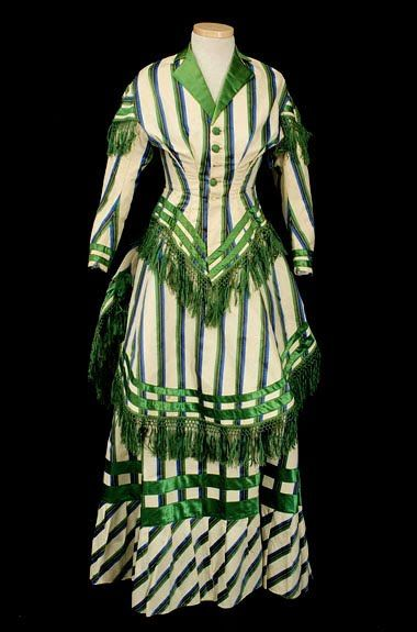 A bustle dress from 1885.  I like the colors on this one!!!