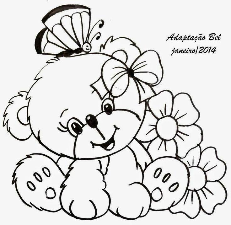 Bear template /Catia Artes Manuais