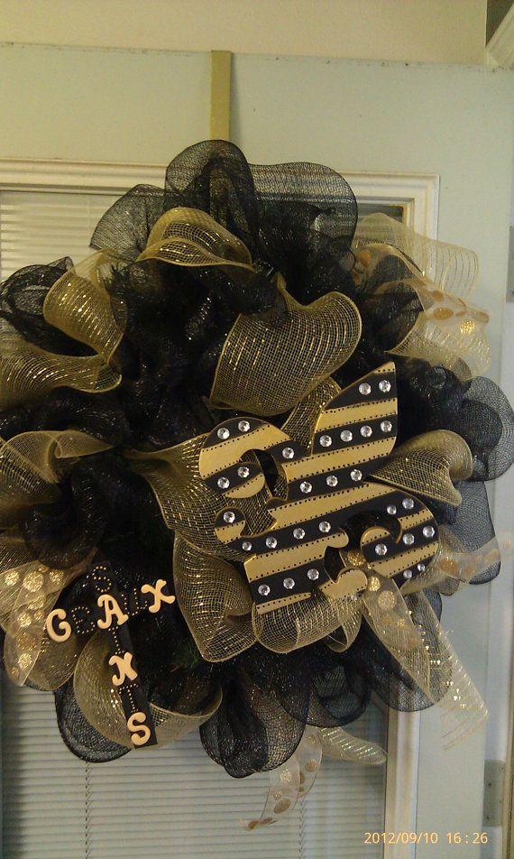 New+Orleans+Saints+wreath+by+3BlessedChix+on+Etsy,+$65.00