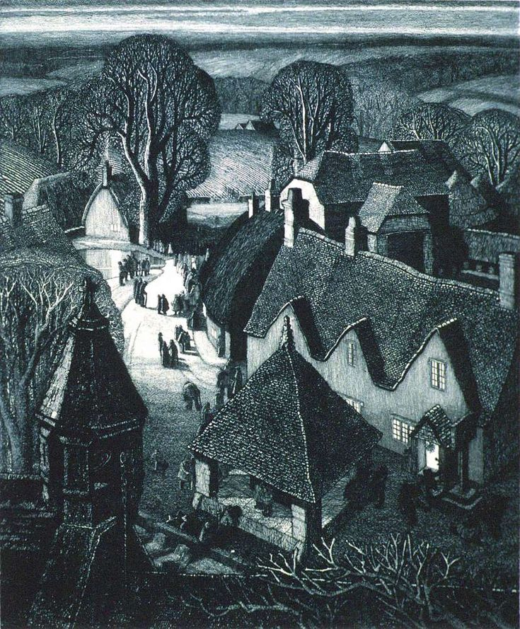 Christmas by Robin Tanner, University of Warwick Art Collection, etching