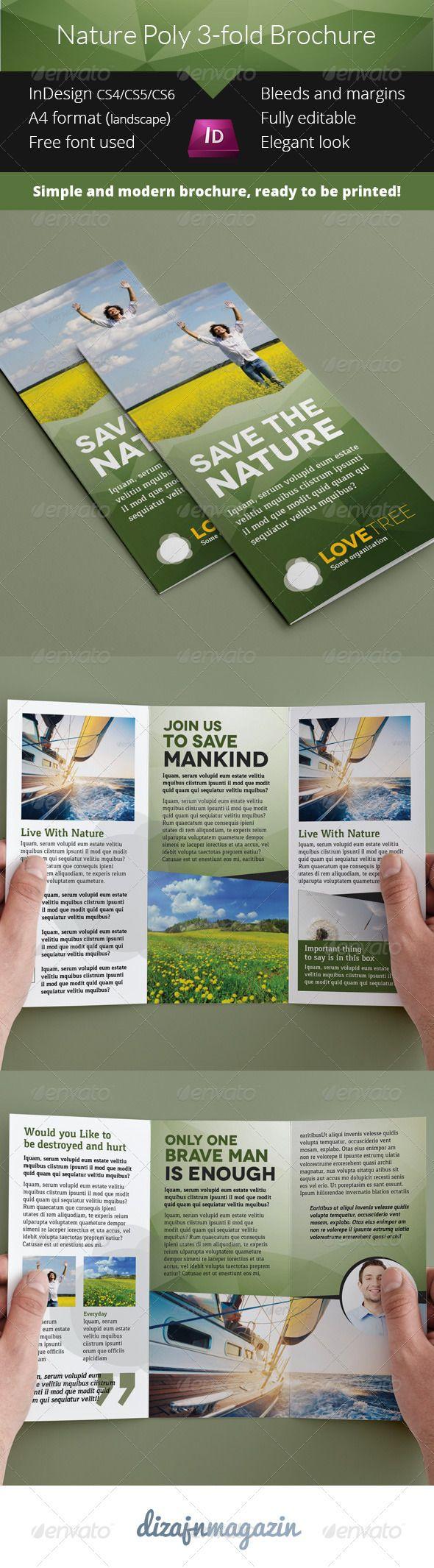 27 best brochure design images on pinterest brochures for 3 fold brochure template indesign