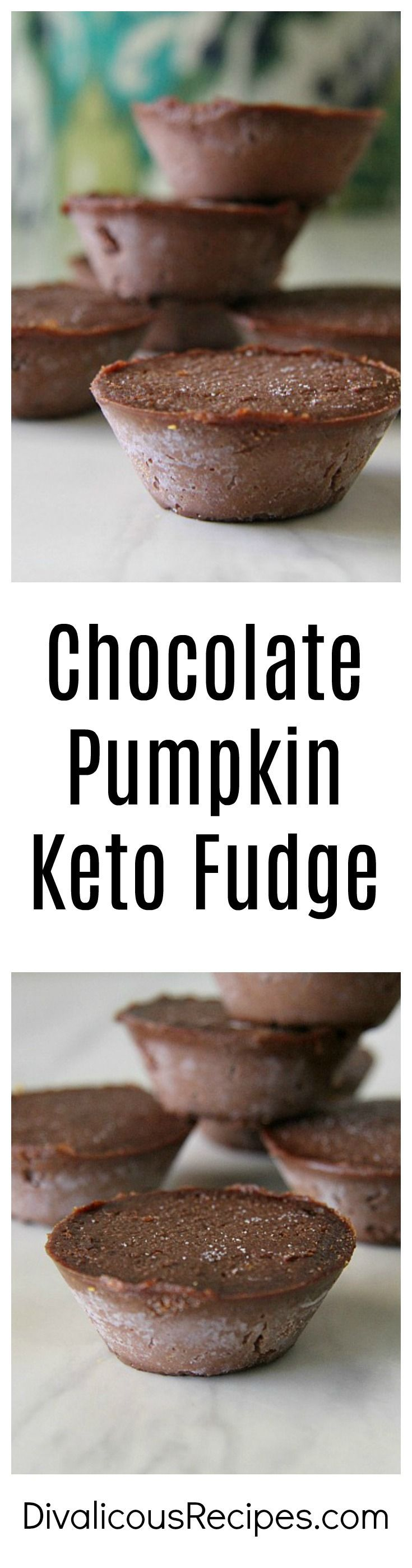 This chocolate pumpkin keto fudge is smooth and creamy as well as being easy to make.