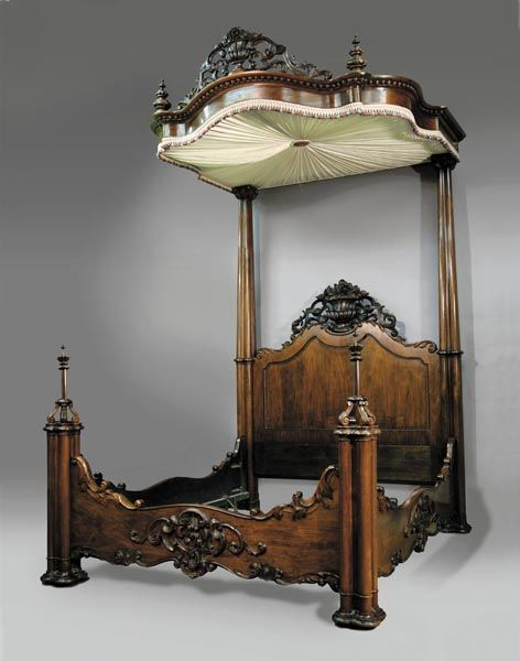 Rosewood Half Tester Bed by Prudent Mallard of New Orleans.