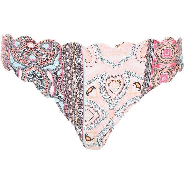 Shade Shore Pink Paisley Bikini Swim Top Nwt