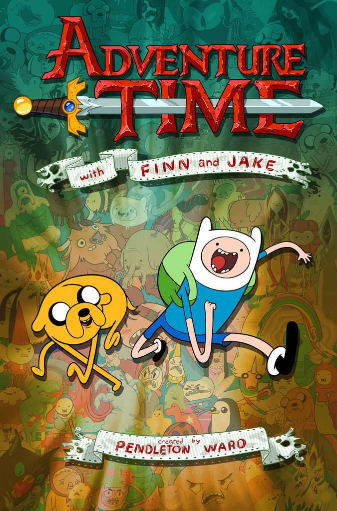 Poster for an in-house Cartoon Network meeting, introducting Pendleton Ward's Adventure Time to national staff.  August 2009  Phil Rynda did the layout Tom Herpich, Natasha Allegri, Phil Rynda did the Character Design Catherine Simmons did the color Nick Jennings did the Art Direction  Reprinted in the book Original Cartoon Posters from Frederator Studios