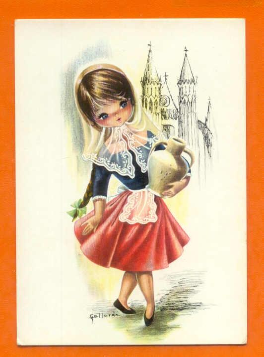 Mejores 84 im genes de gallarda en pinterest postales - Ilustraciones infantiles antiguas ...