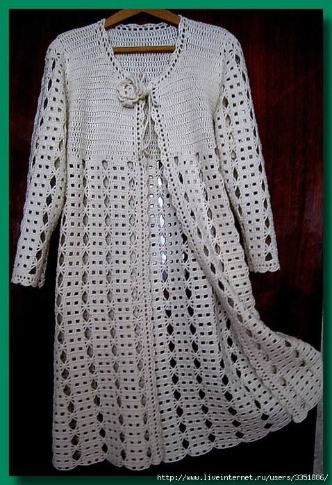 Giacca Mantellina Alluncinetto Abrigos Crochet Cardigan