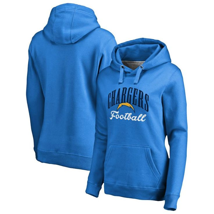 Los Angeles Chargers NFL Pro Line by Fanatics Branded Women's Victory Script Pullover Hoodie - Blue