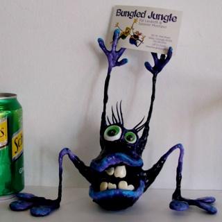 Bungled jungle card holder