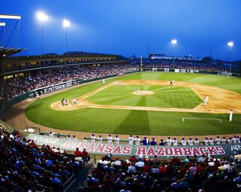 Baum Stadium, the Home of Razorback Baseball Picture at Arkansas Razorback Photos