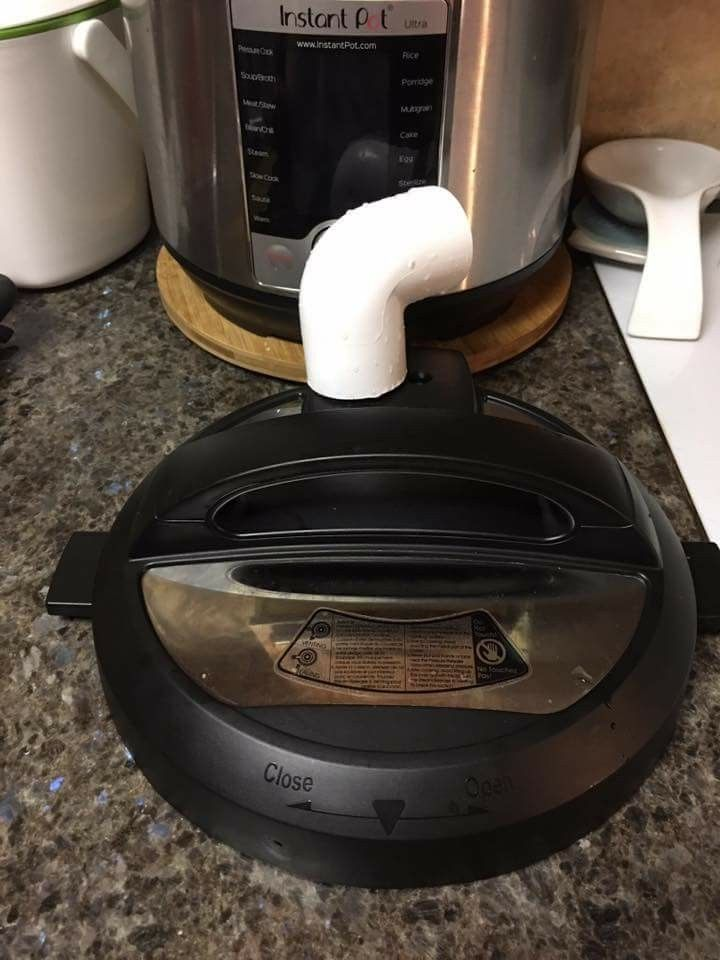 Lazy Susan plus PVC elbow to save kitchen cabinets