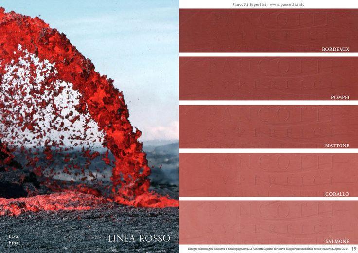 Linea Rosso | #bordeaux #pompei #mattone #corallo #salmone