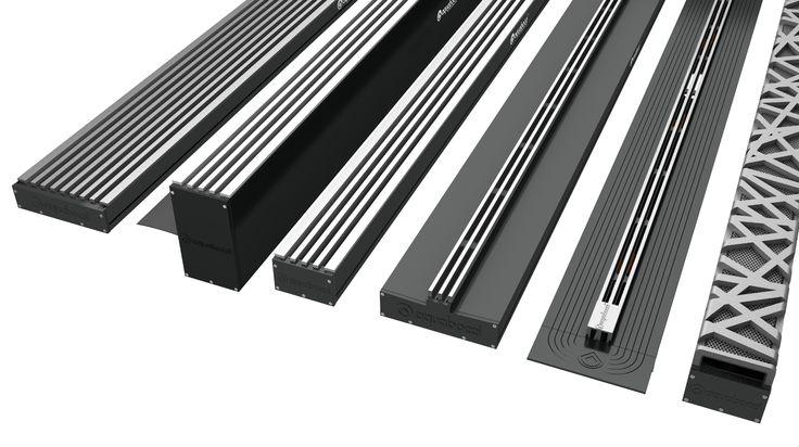 The new range of aquabocci channel drains.