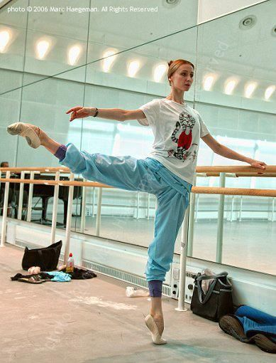 Svetlana Zakharova - because someone needs to make flexible people feel bad - love the dancing kitty shirt!