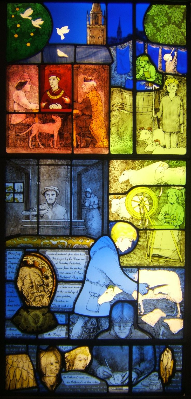 """Window four of eight in conjunction with the """"Godiva Awakes"""" project. Designed and made by Frans Wesselman. www.fwstainedglass.com"""