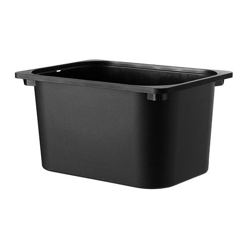 """TROFAST Storage box - black, 16 ½x11 ¾x9 """" - IKEA - This works VERY well for storage inside the galley cabinets and doubles as a sink / bucket when necessary."""