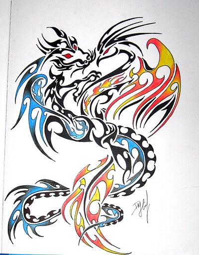 Dragon phoenix ~~ Reminded me of you for some reason.  :)