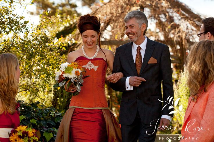 Dale & Christopher @ Jessie Rose Photography, autumn, wedding, bride, groom, love, diy, silk, orange, gown, father, dress