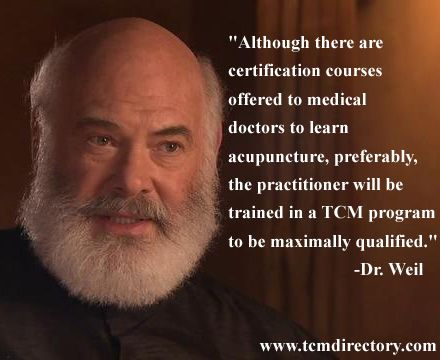 """""""Although there are certification courses offered to medical doctors to learn acupuncture, preferably the practitioner will be trained in a TCM program to be maximally qualified"""". Find your best trained acupuncturist at http://www.tcmdirectory.com"""