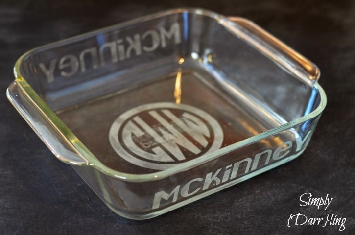 DIY Etched Pyrex Dish | Dishes, Posts and Wedding