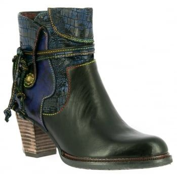 Dare to be different in these bold handcrafted boots made from natural leather. Featuring a large side zip design for an easy and secure fit, with side straps for decoration, they boast comfortable padding and a flexible, treaded sole to keep you comfy all day. https://www.marshallshoes.co.uk/womens-c2/laura-vita-womens-cathy-14-noir-zip-up-heeled-ankle-boots-p5230
