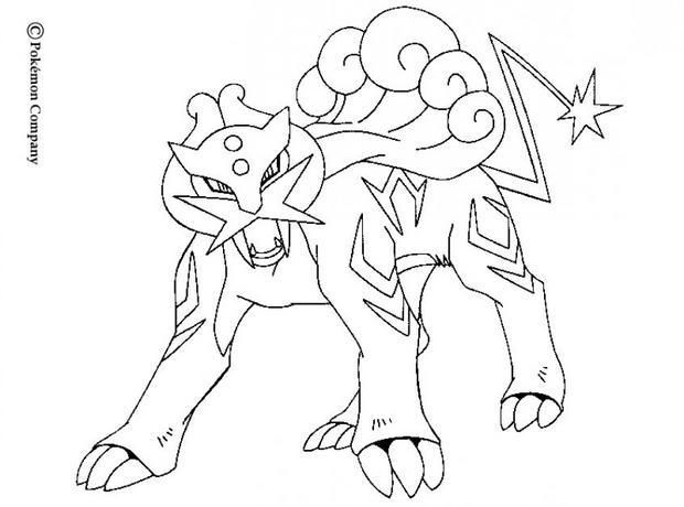Coloriage Pokemon Legendaire Raikou