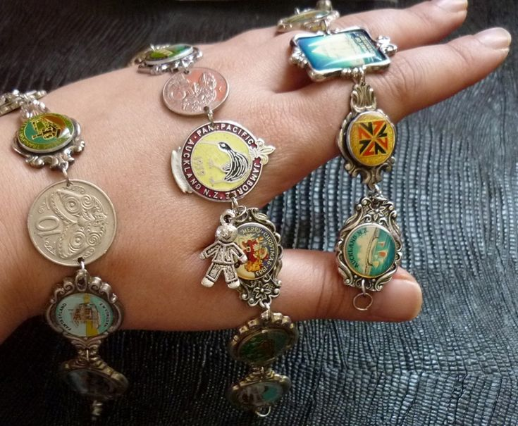 souvenir spoon bracelets. I like this a lot better than them hanging on my wall.