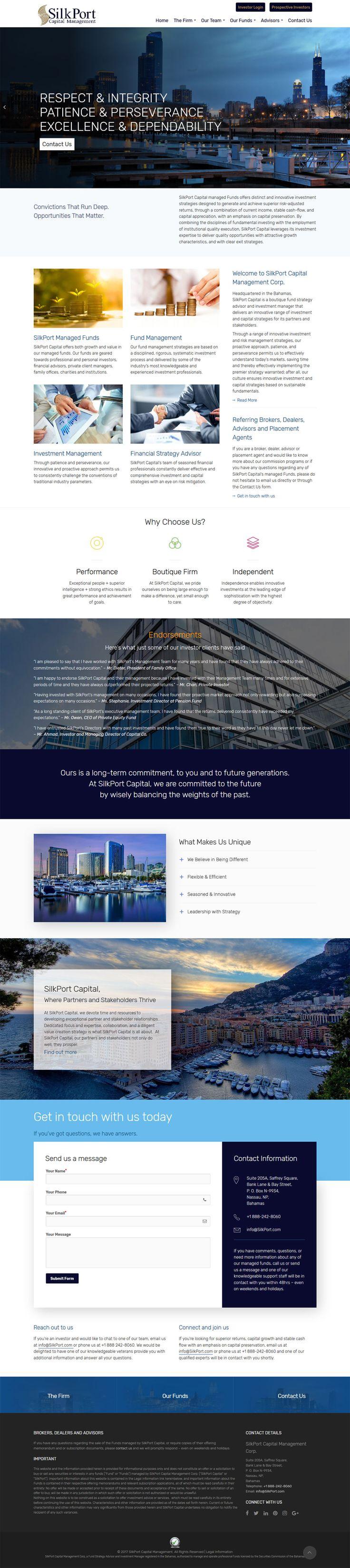 #WebDesign #Portfolio #SilkPortCapital Management  by Top #Website #Developers in #Brampton #Ontario