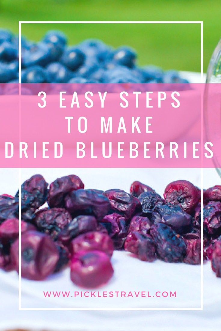 Dried blueberry recipe. 3 easy steps to dehydrate and make dried blueberries the perfect outdoor adventure snack or after school treat and a delicious trail mix addition for all those outdoor family hikes.