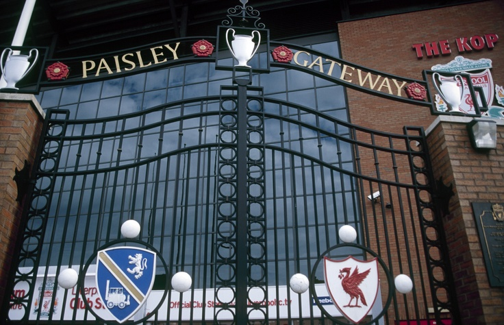 The Paisley Gateway stands outside the entrance to the Kop at Anfield in Bob's honour