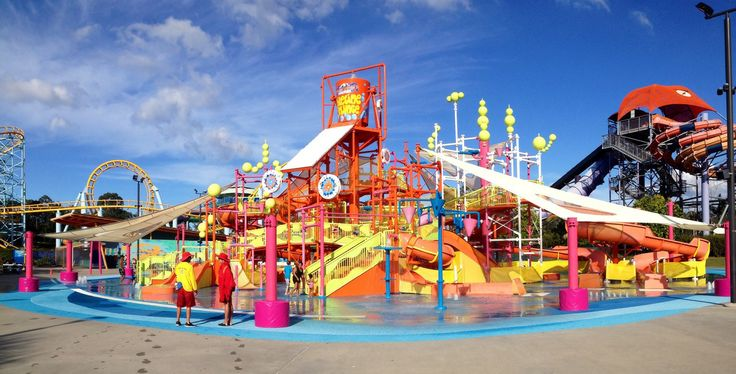 Water playground in whitewater world Gold Coast