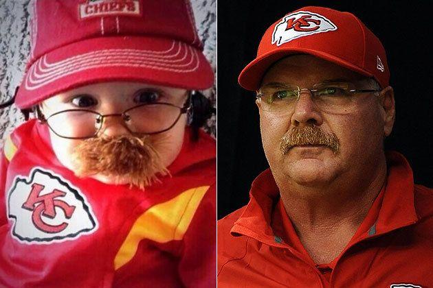 Baby Andy Reid - best baby costume EVER. Go Chiefs!