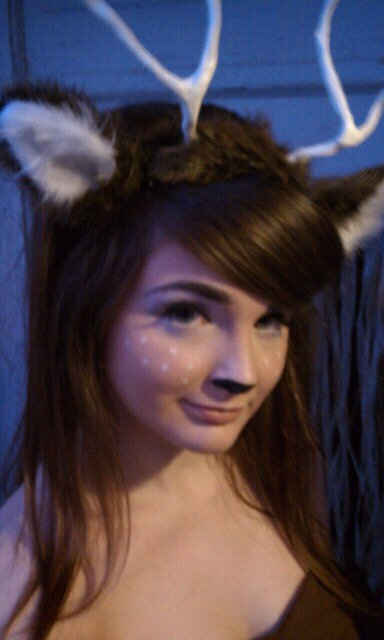 Deer Makeup/Deer ears & antlers! I could be a deer and my bf could be a hunter! haha :)