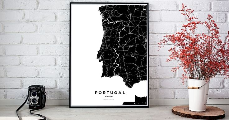 Portugal | Custom Map Maker – Make Your Own Map Poster Online - YourOwnMaps